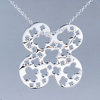 Necklace & Pendants - clover pattern sterling silver pendant necklace gifts for women Image.