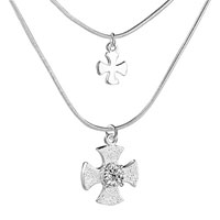 Necklace & Pendants - cross necklaces for women crystal cross pendant necklace 925  sterling silver sterling silver pendant Image.