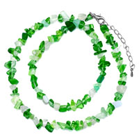 Necklaces - green aventurine chip stone necklaces genuine chip stone necklace Image.