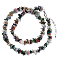 Necklaces - chip stone necklaces genuine colorful charm gemstone nugget chips stretch pendant necklace Image.