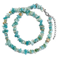 Necklaces - amazonite chip necklaces turquoise aquamarine charm chips stone necklaces Image.