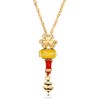 Necklace & Pendants - 18 k gold plated clover nautical anchor yellow murano glass fit all beads charms bracelets brands Image.