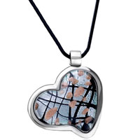 Necklace & Pendants - heart point pendant murano glass necklace Image.