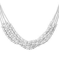 Necklace & Pendants - silver charming multistrand crystal cz necklace pendant for women earrings Image.