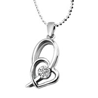 Necklace & Pendants - mother's love mother charms birthstone charms heart clear gorgeous sterling silver Image.