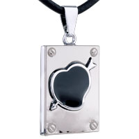 Necklace & Pendants - mothers day gifts heart arrow rectangular stainless steel necklaces pendant for men Image.