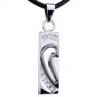 Necklace & Pendants - stainless steel left half heart couple lover necklaces pendant Image.