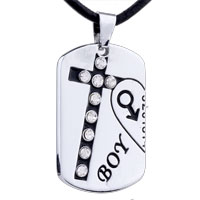 Necklace & Pendants - mothers day gifts left heart boy love necklace pendant for men Image.