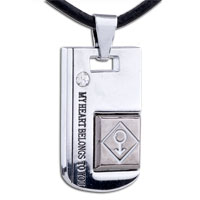Necklace & Pendants - mothers day gifts heart belongs to boy stainless steel necklaces pendant for men Image.
