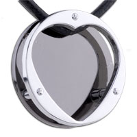 Mom Jewelry - mothers day gifts layer open heart stainless steel necklaces pendant for men Image.