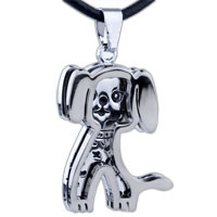 Necklace & Pendants - mothers day gifts puppy shaped stainless steel necklaces pendant for men earrings Image.
