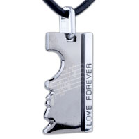 Man's Jewelry - love forever stainless steel necklaces pendant for men Image.