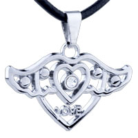Mom Jewelry - mothers day gifts wing heart stainless steel necklaces pendant for men Image.