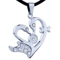 Mom Jewelry - mothers day gifts swan heart stainless steel necklaces pendant for men Image.