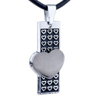 Necklace & Pendants - mothers day gifts heart column stainless steel necklaces pendant for men earrings Image.