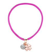 Necklace & Pendants - clear white crystal popular amethyst silicone rubber dangle ball and flower necklace pendant Image.