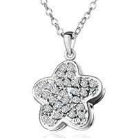 Necklace & Pendants - clear crystal star sterling silver pendant necklaces jewelry for women Image.