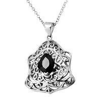 Necklace & Pendants - mothers day gifts clear crystal art sterling silver pendant necklaces jewelry for women Image.