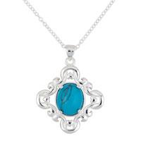 Necklace & Pendants - sterling silver turquoise blue lapis reversible pendant necklace  18 Image.