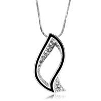 Necklace & Pendants - hollow leaves clear crystal cz pendant necklace for fashion women earrings Image.