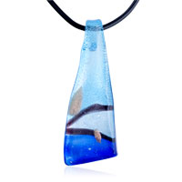 relation - silver foil blue colori blade pendant necklace Image.