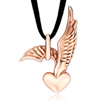 Mom Jewelry - mothers day gifts rose gold eagle heart pendants Image.