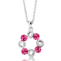 Necklace & Pendants - karma necklaces cloud clear crystal october birthstone pink necklaces pendant Image.