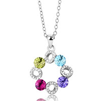Necklace & Pendants - karma necklaces cloud colorful crystal round necklace pendant Image.