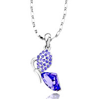 Necklace & Pendants - butterfly february tanzanite crystal galactic pendant necklace earrings Image.