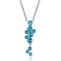 Necklace & Pendants - march birthstone aquamarine crystal rain dew pendant necklace women Image.