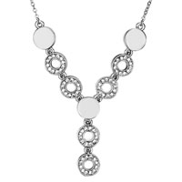 Necklace & Pendants - y round april birthstone clear swarovski crystal pendant necklace for women earrings Image.