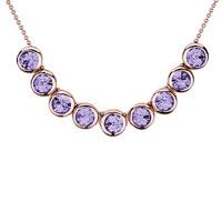 Necklace & Pendants - rose gold rounds violet swarovski crystal pendant necklace for women Image.