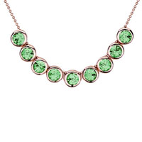 Necklace & Pendants - rose gold rounds august birthstone peridot swarovski crystal pendant necklace for women Image.
