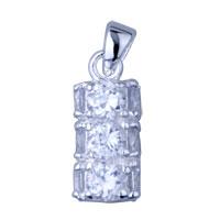 Sterling Silver - 925  sterling silver cylinder pendant necklace sterling silver pendant Image.