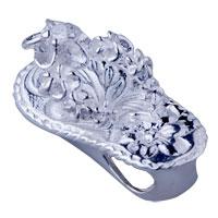 Sterling Silver - 925  sterling silver flower pattern slipper pendant necklace sterling silver pendant Image.