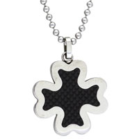 Earrings - cross necklaces for men 925  sterling silver black four leaf clover necklace earrings Image.