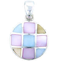 Necklaces - mother of pearl donut pendant necklace Image.