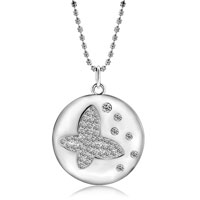 Necklace & Pendants - hollow crystal butterfly pendant necklace for women Image.