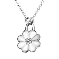 Necklace & Pendants - flower clear crystal pendant necklace for women Image.