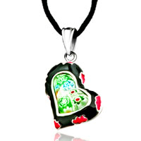 Necklace & Pendants - heart colorful millefiori murano glass pendant necklace for women Image.