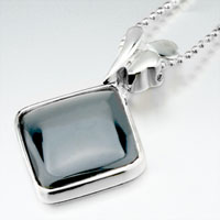 Necklace & Pendants - black square necklace pendant Image.