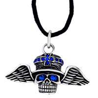 Necklace & Pendants - cool men' s pirate wing september birthstone sapphire crystal pendant Image.