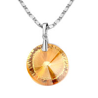 Necklace & Pendants - karma necklaces november birthstone topaz crystal whipping pendant Image.