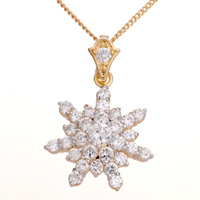 Necklace & Pendants - clear crystal snowflake pendant Image.