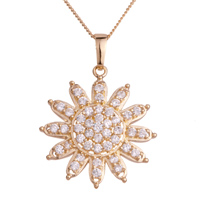 Necklace & Pendants - elegant clear crystal snowflake pendant Image.