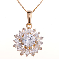 Necklace & Pendants - shinning clear crystal snowflake pendant Image.