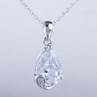 relation - drop crystal pendant necklace Image.