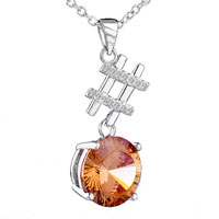 Necklace & Pendants - well november yellower swarovski crystal pendant necklace Image.