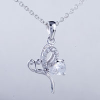 relation - flower crystal pendant necklace Image.
