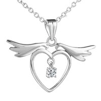 Sterling Silver Jewelry - mother's love mother charms birthstone charms sterling silver heart wing Image.
